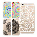 "povoljno MacBook Pro 13"" maske-Θήκη Za iPhone 7 / iPhone 7 Plus / iPhone 6s Plus iPhone X / iPhone 8 Plus / iPhone 8 Prozirno / Uzorak Stražnja maska Mandala / Cvijet Mekano TPU"