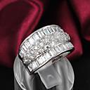 ieftine Îngrijire Unghii-Pentru femei Band Ring Argintiu Plastic Zirconiu Ștras femei Nuntă Petrecere Bijuterii / Argilă / Argilă