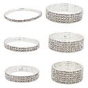 Women's Crystal Chain Bracelet Cuff Bracelet Tennis Bracelet Tennis Chain Cheap Ladies Fashion Italian Iced Silver Plated Bracelet Jewelry 4# / 5# / 6# Christmas Gifts Wedding Party Daily