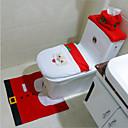 povoljno LED svjetla u traci-2015 vruće 1lot sviđa Santa WC sjedalo poklopac i tepih kupaonica postaviti kontura Rug Božićni ukrasi