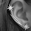 cheap Earrings-Women's Ear Cuff Earrings Climber Earrings Star North Star Ladies Personalized European Fashion Elegant Bling Bling Rhinestone Earrings Jewelry Silver For Wedding Party Gift Daily Casual 2pcs