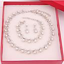 ieftine Kids' Hair Jewelry-Pentru femei Seturi de bijuterii femei cercei Bijuterii Alb perlă Pentru Nuntă Petrecere Ocazie specială Aniversare Zi de Naștere Logodnă / Cadou / Zilnic / Cercei / Coliere