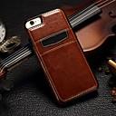 voordelige iPhone SE/5s/5c/5 screenprotectors-hoesje Voor iPhone 5 / Apple iPhone SE / 5s / iPhone 5 Kaarthouder Achterkant Effen Hard aitoa nahkaa