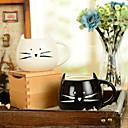 """رخيصةأون تزيين المنزل-300 ملليلتر أبيض وأسود لطيف القط الحيوان كوب الإبداعية المياه القدح (5.1 """"x4.3"""" x3.7 """")"""