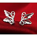 povoljno Naušnice-Žene Sitne naušnice Rukav leptir Sa životinjama jeftino dame Moda Slatka Style Plastika Srebrna Naušnice Jewelry Pink Za Vjenčanje Party Dnevno