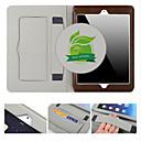 رخيصةأون Sony أغطية / كفرات-غطاء من أجل Apple iPad Air 2 حامل البطاقات / مع حامل / نوم / استيقاظ أتوماتيكي غطاء كامل للجسم لون سادة جلد أصلي