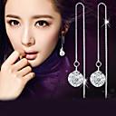 ieftine Becuri LED Lumânare-Diamant sintetic Cercei Picătură Hanging Cercei Minge de discotecă Minge Minge femei Modă Elegant Plastic Cristal Diamante Artificiale cercei Bijuterii Argintiu Pentru Nuntă Petrecere Zilnic Casual