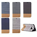 رخيصةأون Huawei أغطية / كفرات-غطاء من أجل Samsung Galaxy S6 edge plus / S6 edge / S6 محفظة / حامل البطاقات / مع حامل غطاء كامل للجسم خطوط / أمواج جلد PU