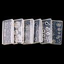 ieftine Ustensile & Gadget-uri de Copt-6 pcs 3D Tipare Unghii Acrilice Bijuterie unghii Încântător nail art pedichiura si manichiura Zilnic Modă / Unghiul de bijuterii