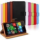 رخيصةأون Nokia أغطية / كفرات-غطاء من أجل Nokia Lumia 820 / Nokia Lumia 1020 / Nokia Lumia 625 Nokia Lumia 640 XL محفظة / حامل البطاقات / مع حامل غطاء كامل للجسم لون سادة قاسي جلد PU