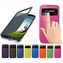 tanie Etui / Pokrowce do Samsunga Galaxy S-Kılıf Na Samsung Galaxy S4 Mini Z okienkiem / Flip Pełne etui Solidne kolory Skóra PU