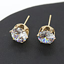 cheap Earrings-Women's Crystal Stud Earrings Cheap Crystal Earrings Jewelry Silver / Golden For Wedding Party Daily Casual