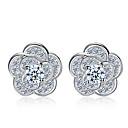 Men's Women's Stud Earrings Sterling Silver Jewelry Wedding Party Daily Costume Jewelry