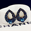 cheap Earrings-Women's Blue Crystal Stud Earrings Classic Style Classic Theme Elegant & Luxurious Earrings Jewelry Blue For Wedding Party Daily Casual