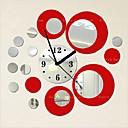رخيصةأون ملصقات ديكور-ساعة الحائط,موضة Acryic / بوليستر دائري / لواصق حائط مزخرفة / لواصق الساعة / قابل للنقل