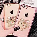 ieftine Ustensile & Gadget-uri de Copt-Maska Pentru Apple iPhone X / iPhone 8 Plus / iPhone 8 Stras / Placare / Suport Inel Capac Spate Pisica Moale TPU