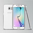 povoljno Maske/futrole za Galaxy S seriju-Θήκη Za Samsung Galaxy S6 edge Prozirno Stražnja maska Jednobojni TPU