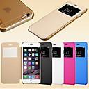 billige Apple Watch-remmer-Etui Til iPhone 5 / Apple iPhone SE / 5s / iPhone 5 med vindu / Autodvale / aktivasjon / Flipp Heldekkende etui Ensfarget Hard PU Leather