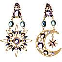 ieftine Îngrijire Unghii-Pentru femei Cercei Picătură MOON femei Lux European Modă Diamante Artificiale cercei Bijuterii Culoare ecran Pentru