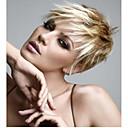 povoljno Šminka i njega noktiju-Sintetičke perike Wavy Wavy Pixie frizura Sa šiškama Perika Plavuša Kratko Plavuša Sintentička kosa Žene Plavuša