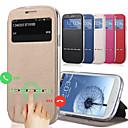 رخيصةأون حالة سامسونج اللوحي-غطاء من أجل Samsung Galaxy J7 / J5 حامل البطاقات / مع حامل / مع نافذة غطاء كامل للجسم لون سادة جلد PU