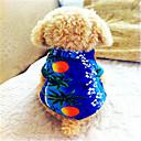 povoljno Muške majice i potkošulje-Pas T-majica Odjeća za psa Prozračnost Plava Kostim Pamuk Cvjetni / Botanički Vjenčanje Moda XS S M L XL