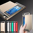 billige iPhone-etuier-Etui Til Apple iPhone 8 Plus / iPhone 8 / iPhone 6s Plus Kortholder Bakdeksel Rustning Hard Metall