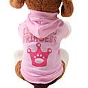 billige Hundetøj og tilbehør-Kat Hund Hættetrøjer Vinter Hundetøj Åndbart Lys pink Kostume Bulldog Mops Chihuahua Bomuld Tiaraer & kroner Mode XS S M L