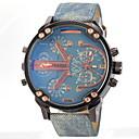 ieftine Ceasuri Bărbați-JUBAOLI Bărbați Ceas Militar Ceas de Mână Quartz Piele Negru / Albastru / Gri Zone Duale de Timp Analog Charm - Gri Galben Albastru Deschis Un an Durată de Viaţă Baterie / SSUO LR626
