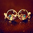 povoljno Naušnice-Žene Kubični Zirconia Sitne naušnice Viseće naušnice jeftino Europska Moda Kubični Zirconia Platinum Plated Naušnice Jewelry Zlato Za