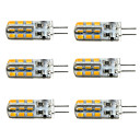 رخيصةأون أضواء LED ذرة-Jiawen 6 قطع led g4 مصباح لمبة ضوء dc 12 فولت 24-2835smd أضواء 360 شعاع زاوية استبدال ل كريستال الثريا