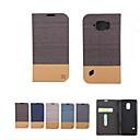 رخيصةأون حافظات / جرابات هواتف جالكسي S-غطاء من أجل Samsung Galaxy S8 Plus / S8 / S7 edge محفظة / حامل البطاقات / مع حامل غطاء كامل للجسم لون سادة ناعم جلد PU