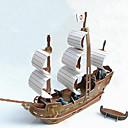 رخيصةأون حافظات / جرابات هواتف جالكسي S-بانوراما الألغاز قطع تركيب3D نموذج الورق اللبنات DIY اللعب سفينة ورق البيج العاج ألعاب البناء و التركيب