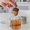 رخيصةأون أدوات الشاي-سيليكون السنجاب infuser فضفاض الصنوبر المكسرات كيس شاي مصفاة
