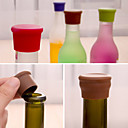 cheap Barware-Candy Color Silicone Bottle Stopper Fresh Beer Food Grade Cork Cruet Random Color