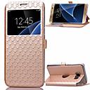billige iPhone-etuier-Etui Til Samsung Galaxy S8 Plus / S8 / S7 edge Kortholder / med stativ / med vindu Heldekkende etui Geometrisk mønster PU Leather