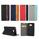 Недорогие Чехлы и кейсы для Galaxy Note Edge-Кейс для Назначение SSamsung Galaxy Note 5 / Note 4 / Note 3 Бумажник для карт / со стендом / Флип Чехол Полосы / волосы Кожа PU