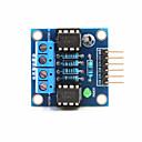 ieftine KIT-uri DIY-2-way modul de acționare cu motor de curent continuu pentru Arduino + pi zmeură - albastru