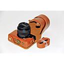 ieftine Carcase, Genți & Curele-dengpin® PU aparat de fotografiat din piele caz sac acopere cu curea de umăr pentru Canon EOS m10 15-45 lentile (culori asortate)