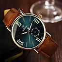 رخيصةأون أقراط-رجالي ساعة المعصم كوارتز جلد بني 30 m مماثل كلاسيكي - أسود أزرق البحرية / ستانلس ستيل