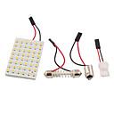 povoljno Šminka i njega noktiju-3528 SMD LED panel 48 3528 toplo bijelo vodio svjetlo + T10 / ba9s modul + dvostruko savjet (DC 12V)