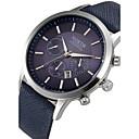 ieftine Seturi de Bijuterii-Bărbați Ceas de Mână Aviation Watch Piele Negru / Albastru / Maro Calendar Cool Analog Clasic - Negru Maro Albastru / Oțel inoxidabil
