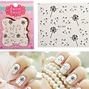 1 pcs 3D Nail Stickers Water Transfer Sticker nail art Manicure Pedicure Abstract / Cartoon / Fashion Daily