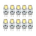 ieftine Becuri LED Bi-pin-10pcs 1 W Becuri LED Bi-pin 100 lm G4 T 1 LED-uri de margele COB Intensitate Luminoasă Reglabilă Alb Cald Alb Rece 12 V / 10 bc / RoHs