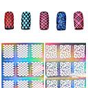 ieftine Protectoare Ecran de Samsung-1 pcs 3D Tipare Unghii Acrilice Diecut Manichiură Șablon nail art pedichiura si manichiura Floare / Modă / Plin de Culoare Zilnic / PVC