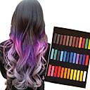 ieftine accesorii de styling-36 creioane de culoare cretă temporare pentru păr de bază non-toxice pasteluri de colorare a părului stick de instrumente de styling diy