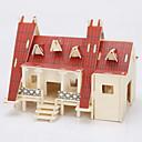 povoljno Muški satovi-jigsaw zagonetke 3D puzzle / Drvene puzzle Građevni blokovi DIY igračke Kuća Drvo Zlatna Igračka model i građenje