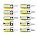 ieftine Becuri LED Bi-pin-lungime 10 buc g4 dimmable 2.5w 24d smd2835 porumb lumina alb / cald alb / ac12v / dc12v / ac220v
