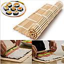 povoljno Naušnice-japanski sushi valjanje bambus mat ručni valjak diy kavu