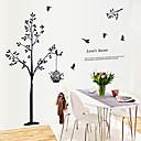 رخيصةأون أدوات الحمام-الحب قفص الطيور شجرة سرية ملصقات الحائط
